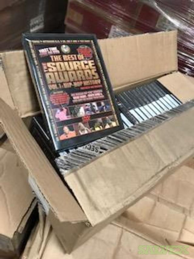 DVDs, DVD Empty Cases and VHS (5 Truckloads / Approx. 110 Pallets)