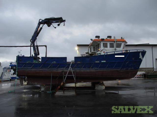 Catamaran Fish Farm Vessel 41ft (12.6m) - Aluminium Double Hull 1995