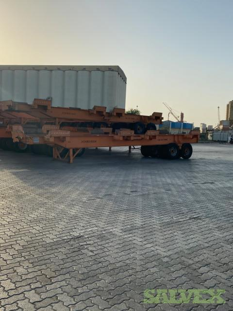 RCE 65-20/20 Trailers 65T Capacity, and ORION LPE240M Pallet Trucks (17 Trailers, 2 Pallet Trucks)