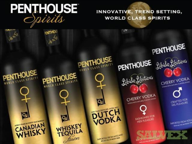 Penthouse Spirits Products - Vodka, Whiskey, Tequila (68,184 Bottles/ 11,364 Cases)