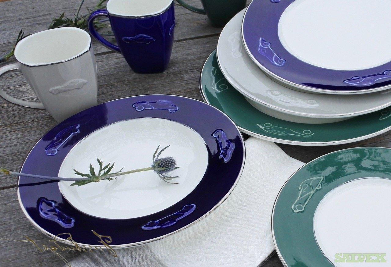 Luxury Porcelain Dinnerware: Dinner Plates, Pasta Bowls, Salad/Dessert Plates, Mugs (10,992 Pieces) in New Jersey