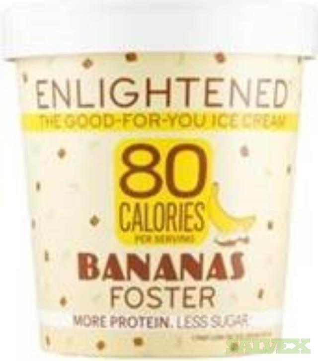 Ice Cream Elightened Low Carb - Best By October, 2019 (16,200 Pints)