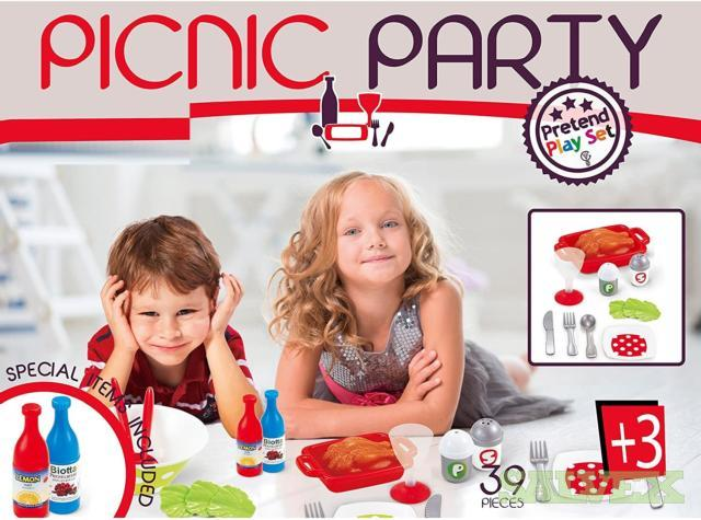 Toddler Picnic Party Toy Set - 39 Piece Plastic Food Pieces Kit for Girls and Boys (400 Units) in Nevada