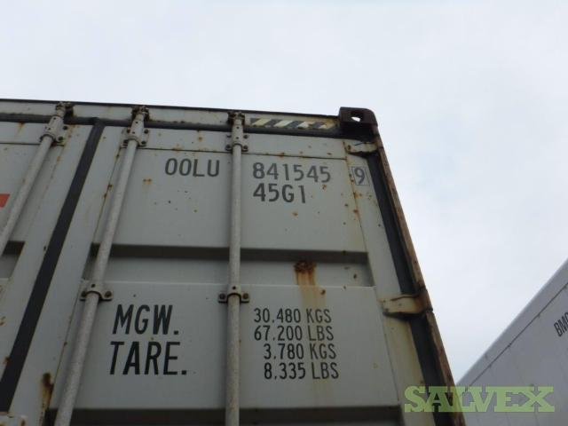 Shipping Container 40HQ - Damaged (1 Unit / Virginia)