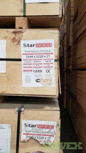 27mm 4'x8' C/C Russian Birch Plywood - Approx 360 sheets / Truckload in Maryland