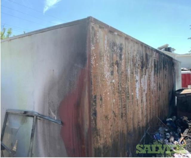 Scrap Shipping Container in California (Fire Damage)