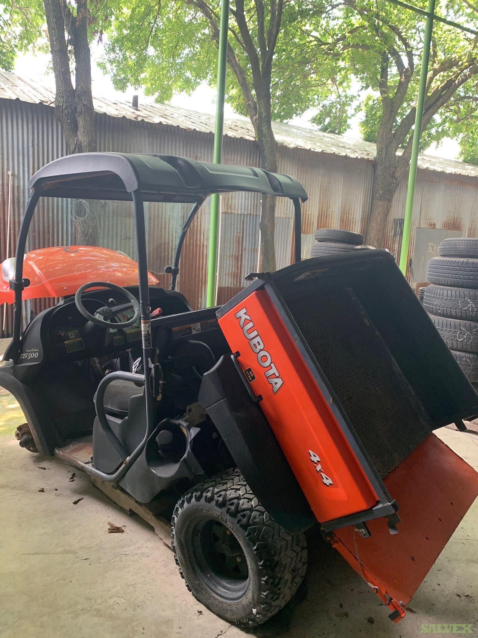 Kubota RTV500, Diesel 4x4 UTV's (4 Units)