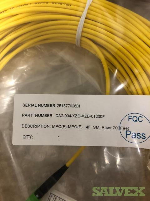 Clearfield MPO(F)-MPO(F) 4 Fiber SM Riser 200?,DA2-004-XZD-XZD-01200F - 32 Boxes