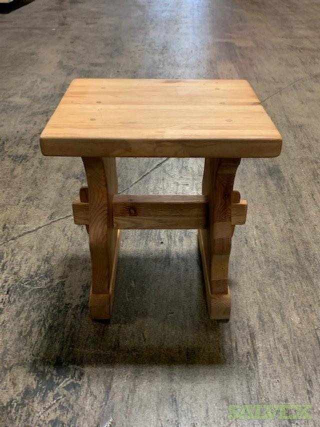 Wood Furniture: Benches, Tables, Beds, Cabinets, Sofa (169 Units)