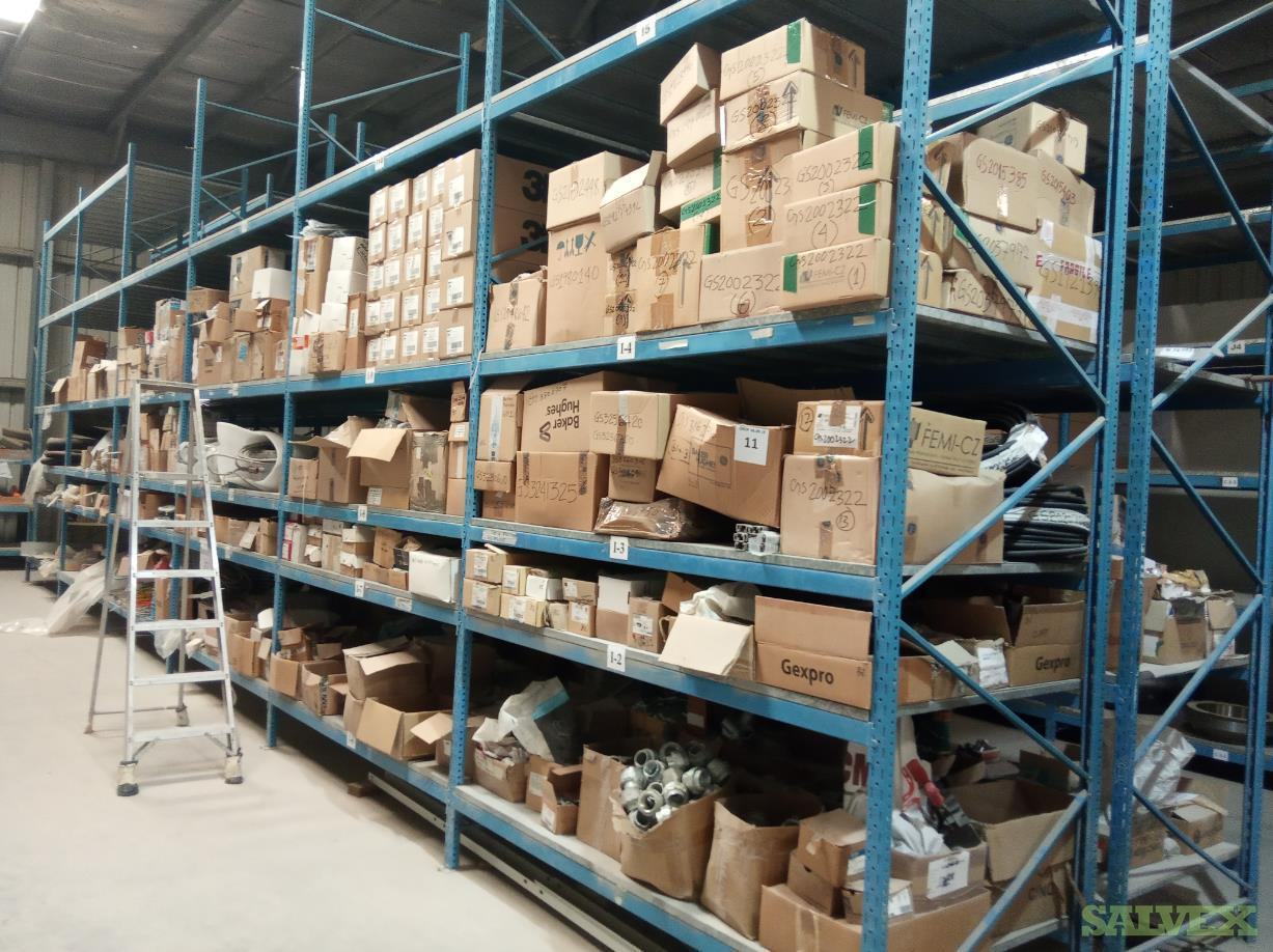 GE Parts: Flanges, Valves, Brackets, Elbows, Flat Washers, Nuts, Screws (72,509 Pieces)