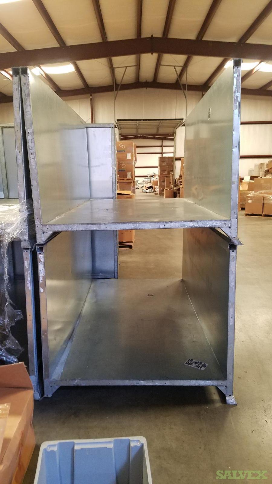 Galvanized Bins 94.5'' X 51'' X 40''  Used (22 Units) in North Carolina