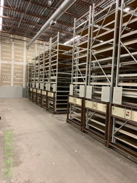 Shelving (Mobile and Fixed) 25' Long (8' Sections) And 14' High in Michigan (22 Units)