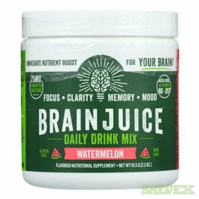Brain Juice Daily Drink Mix Watermelon Focus/Clarity/Memory  (250 units)