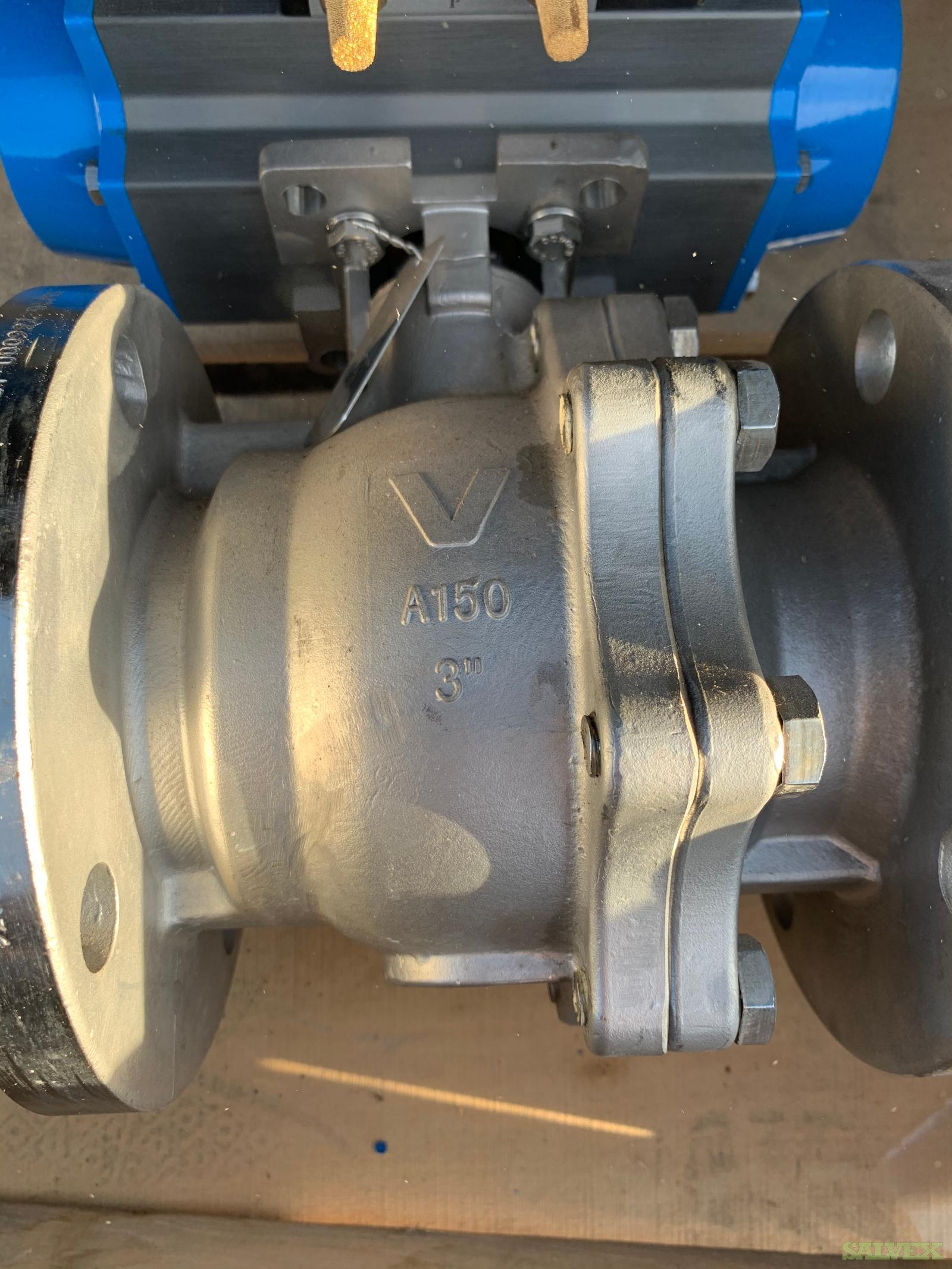 Bonomi 316 SS 3 Inch Class 150 Split Body Ball Valve (1 Valve)