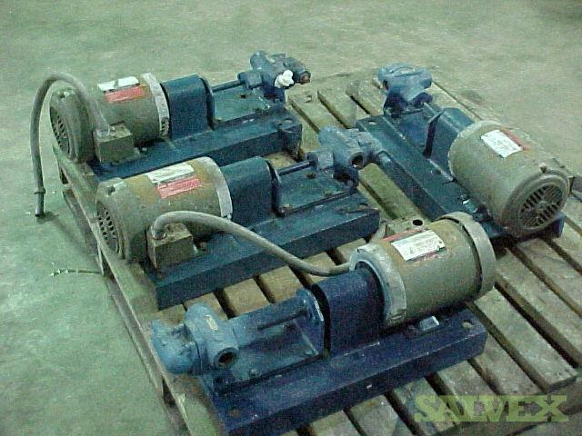 US Electrical Motors Viking Gear; Wilden Double Diaphram and Waukesha Peristaltic Pumps (6 Units)