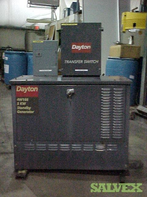 Dayton 4W166 5KW Standby Gas Generator (1 Unit)