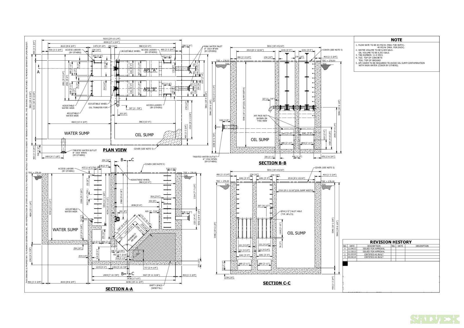 Oil-Water API Separator System (API 421 POD ) MONARCH