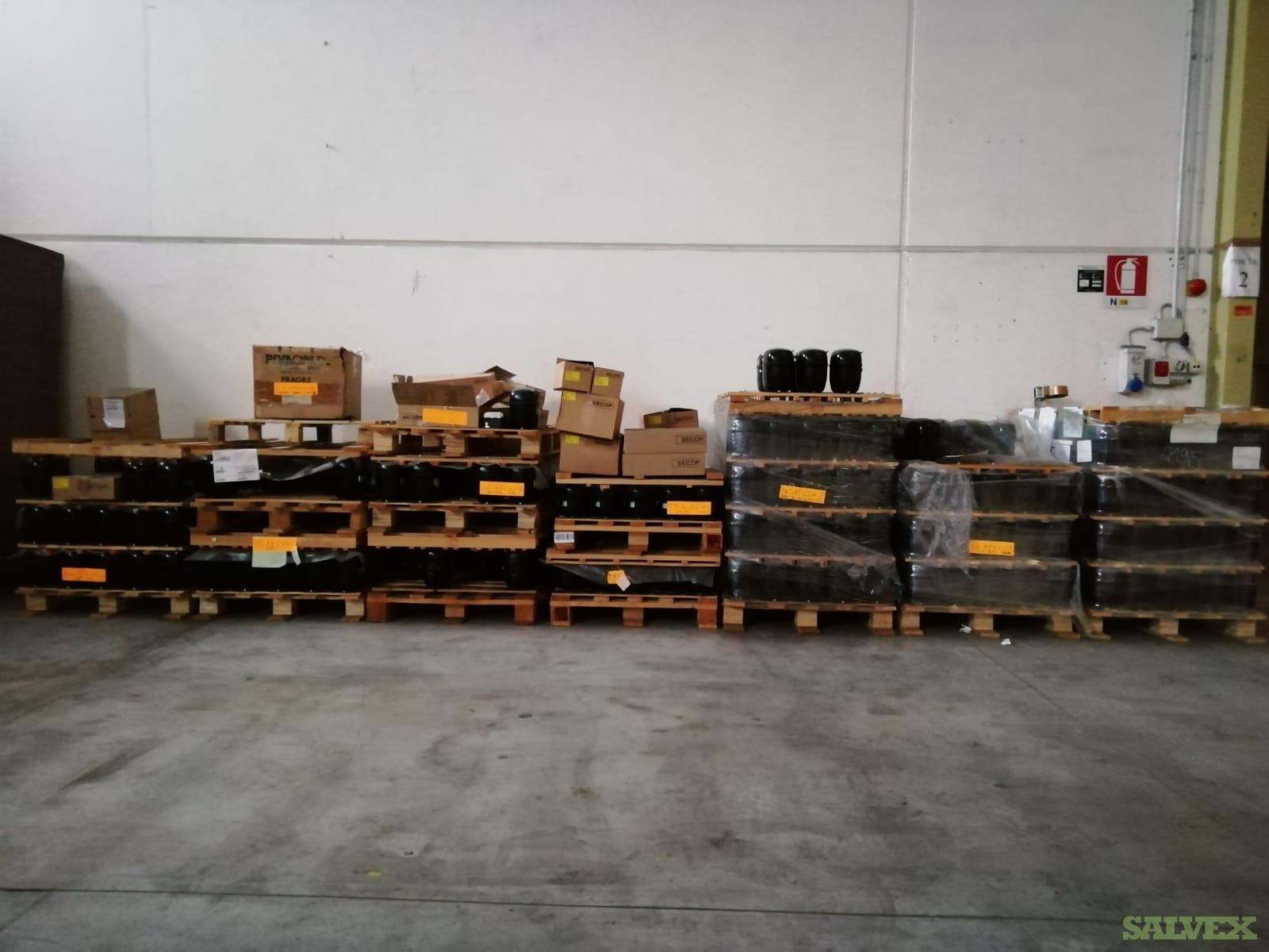 SECOP/EMBRACO Refrigeration Compressors R404A-R507-R452A (397 Units) and Spare Parts (190 Units)