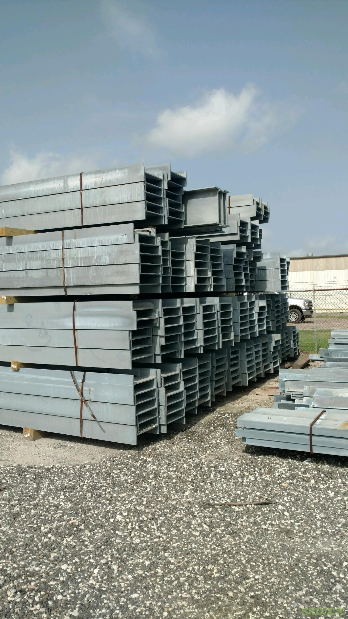 Structural Galvanized Steel Beams - Unused (570,000 lbs / 1,299 pieces)