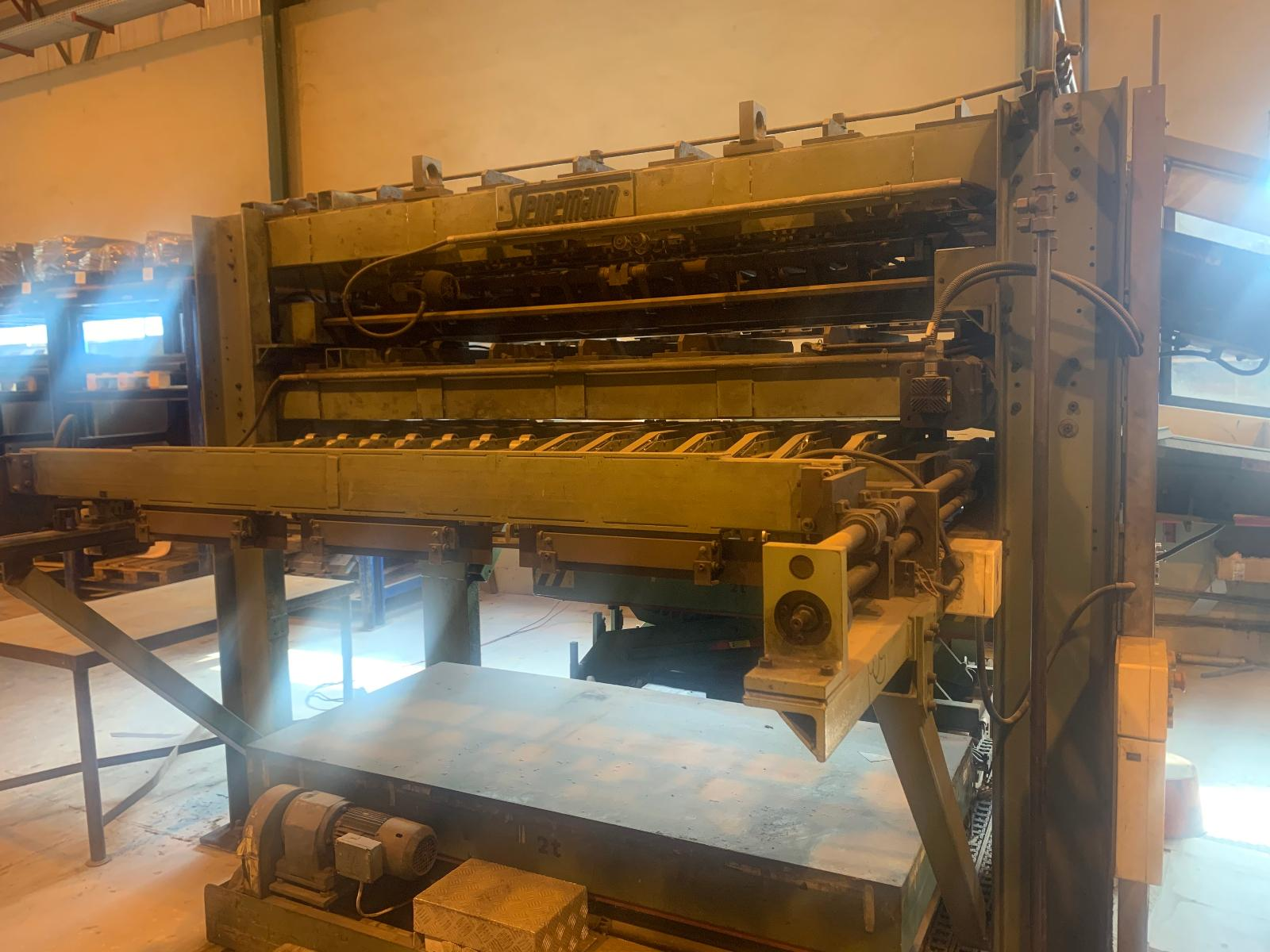 Steinemann 350E/2-2100 Magnetic Steel Cutting Line Machine with Spare Parts