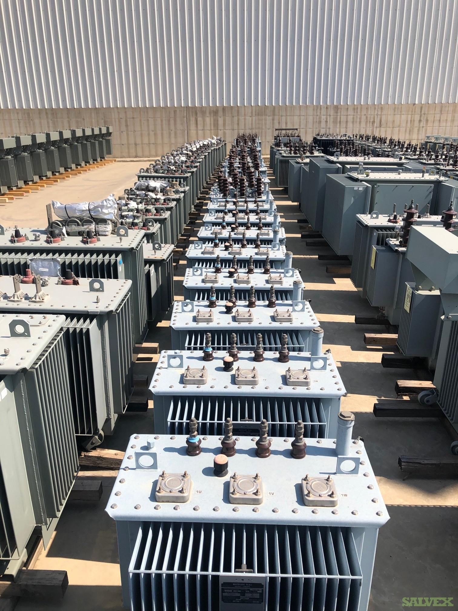 Power Transformers from 50 to 1000 kVA (139 Units) see detail list