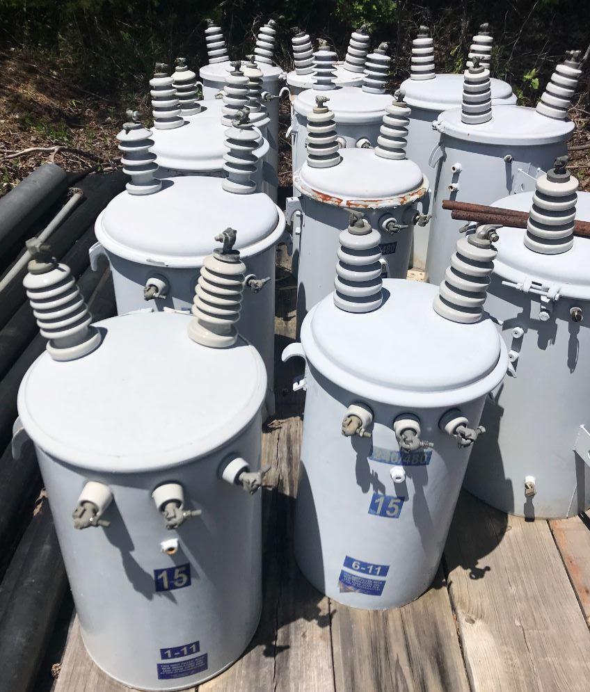 Utility Transformers 15 Kva, Blue Wave Remote Monitors, suction valves and Compressor