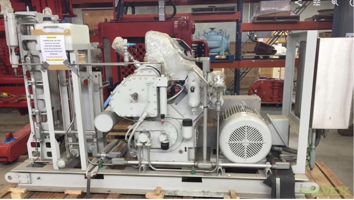 Airdyne Compressor: High Pressure Ram, Water Cooled with Air Dryer, Skid-Mounted (1 Unit)