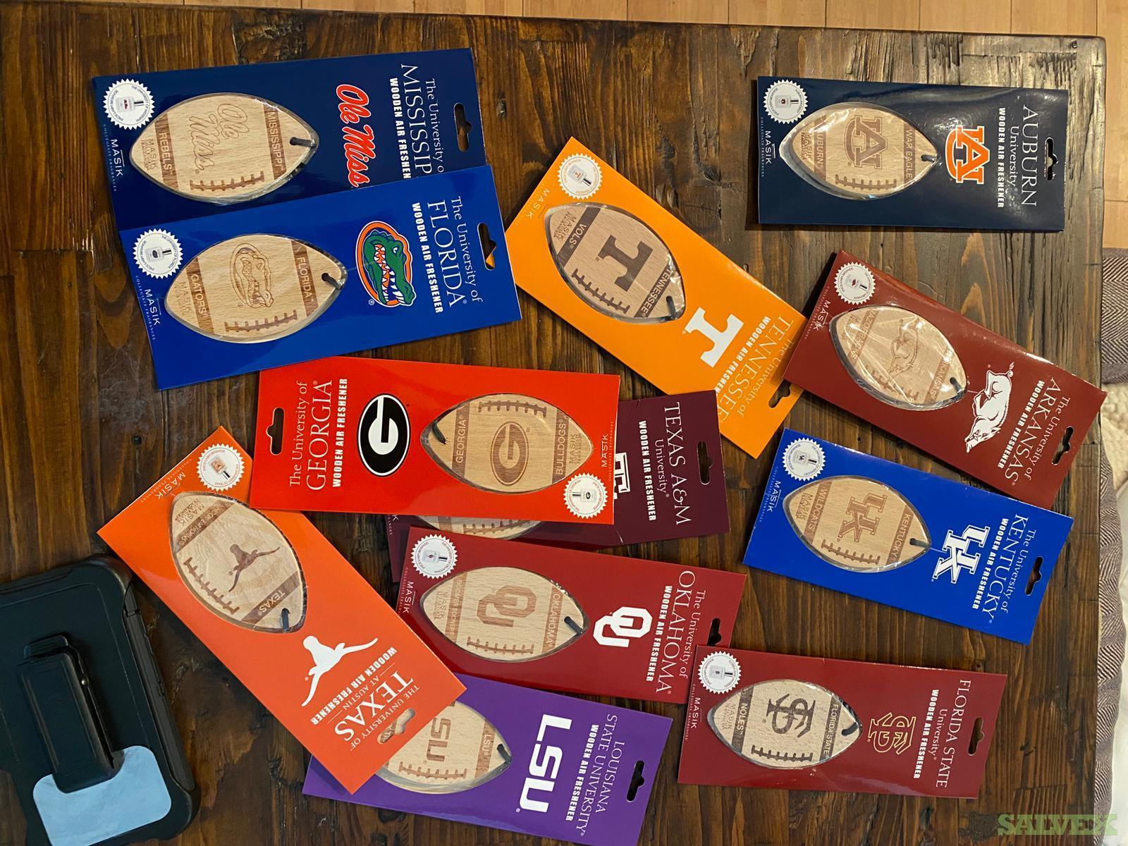 Masik College Wooden Football Air Freshener (Estimated 12,000 Pieces) In NYC