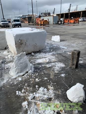 White Alabastro Block - Container Load - Salvage