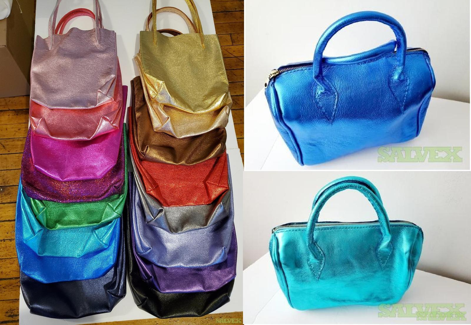 Handmade Metallic Leather Tote Bags and Boston Bags (32 Units) in Michigan