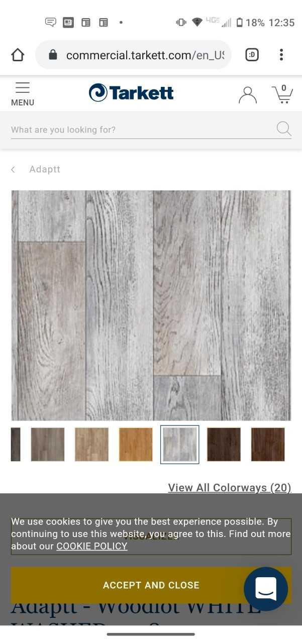 Tarkett Adaptt SSP. - top of line commercial Luxury Vinyl Plank Flooring (7100 sq.ft.)