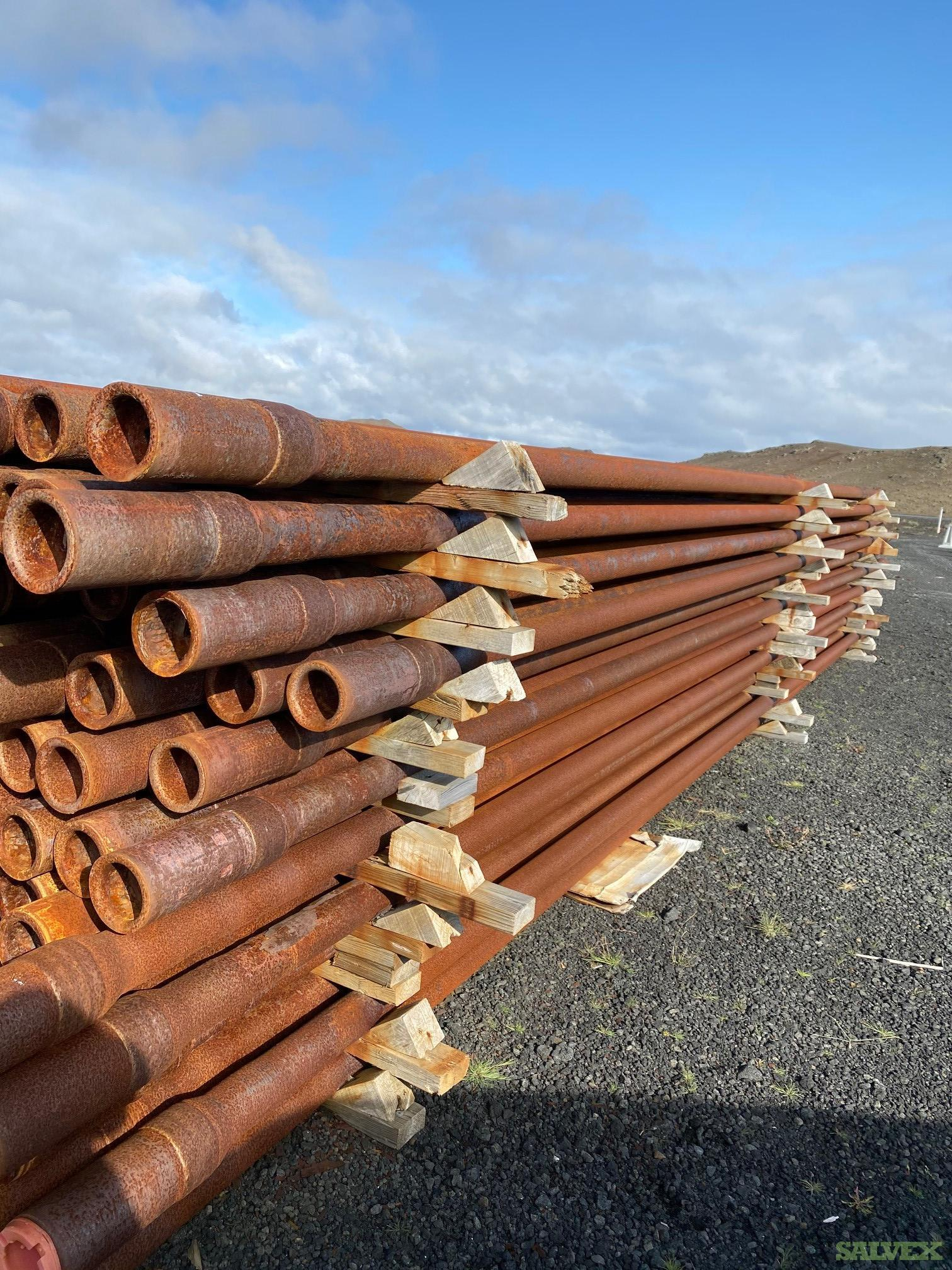 3 1/2 15.68# S-135 & G-105 NC38 Used Drill Pipe (15,656 Feet / 111 Metric Tons)