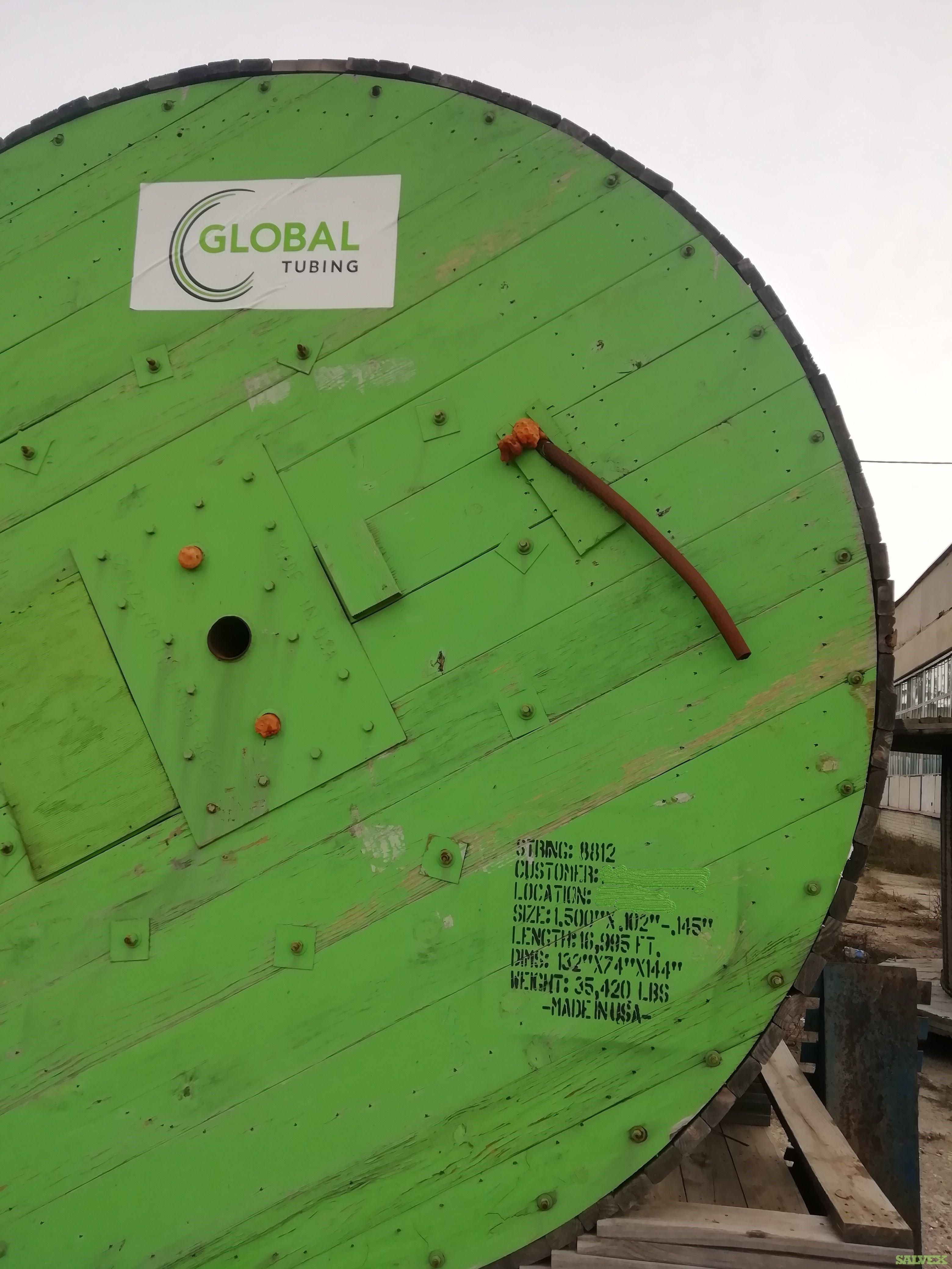 1 1/2 .145WT Surplus Coil Tubing  (16,995 Feet / 16 Metric Tons)
