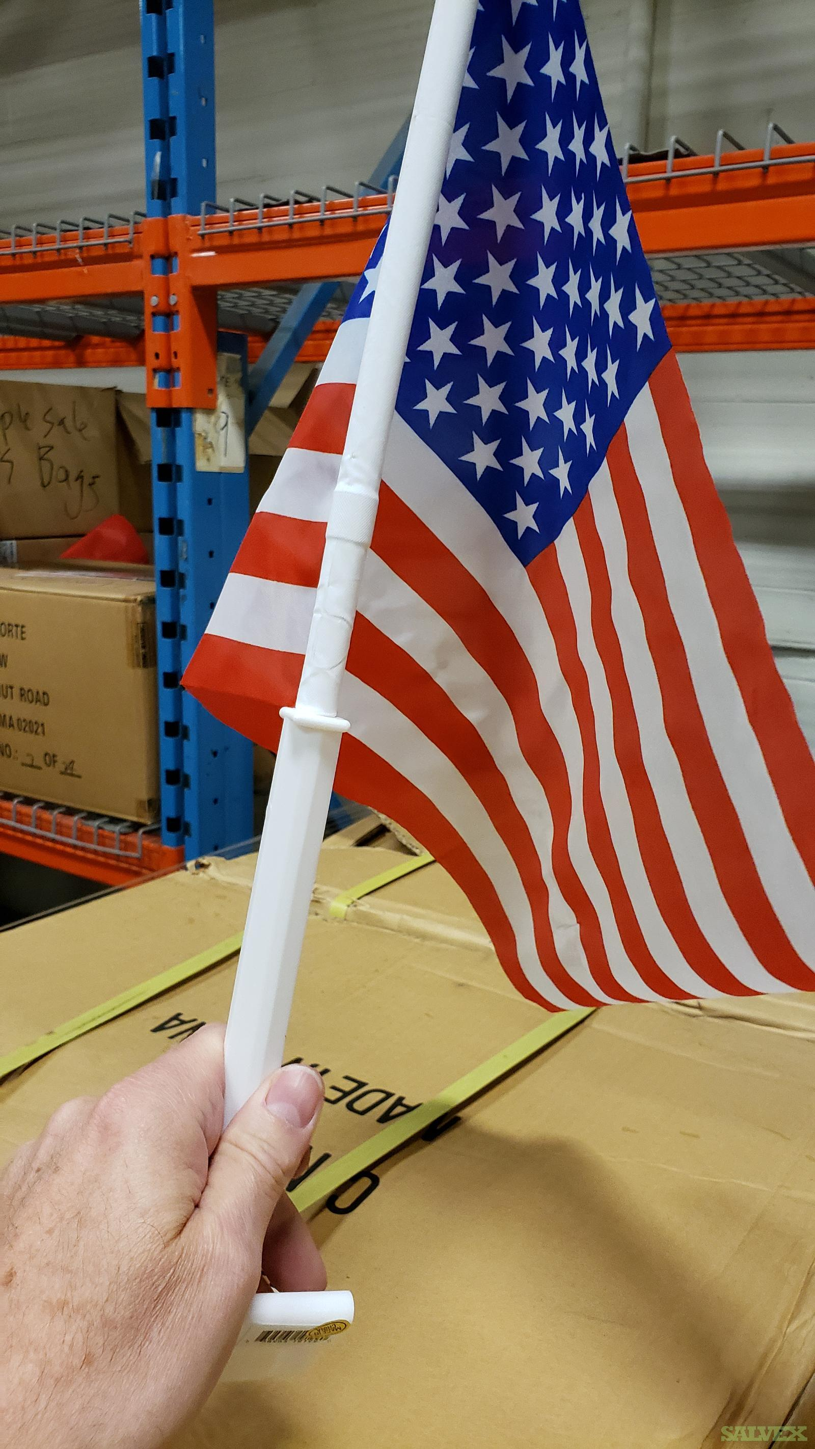 American Flags, Die Cast Model Trucks, and Ambient Clock Radios (4,104 Units)