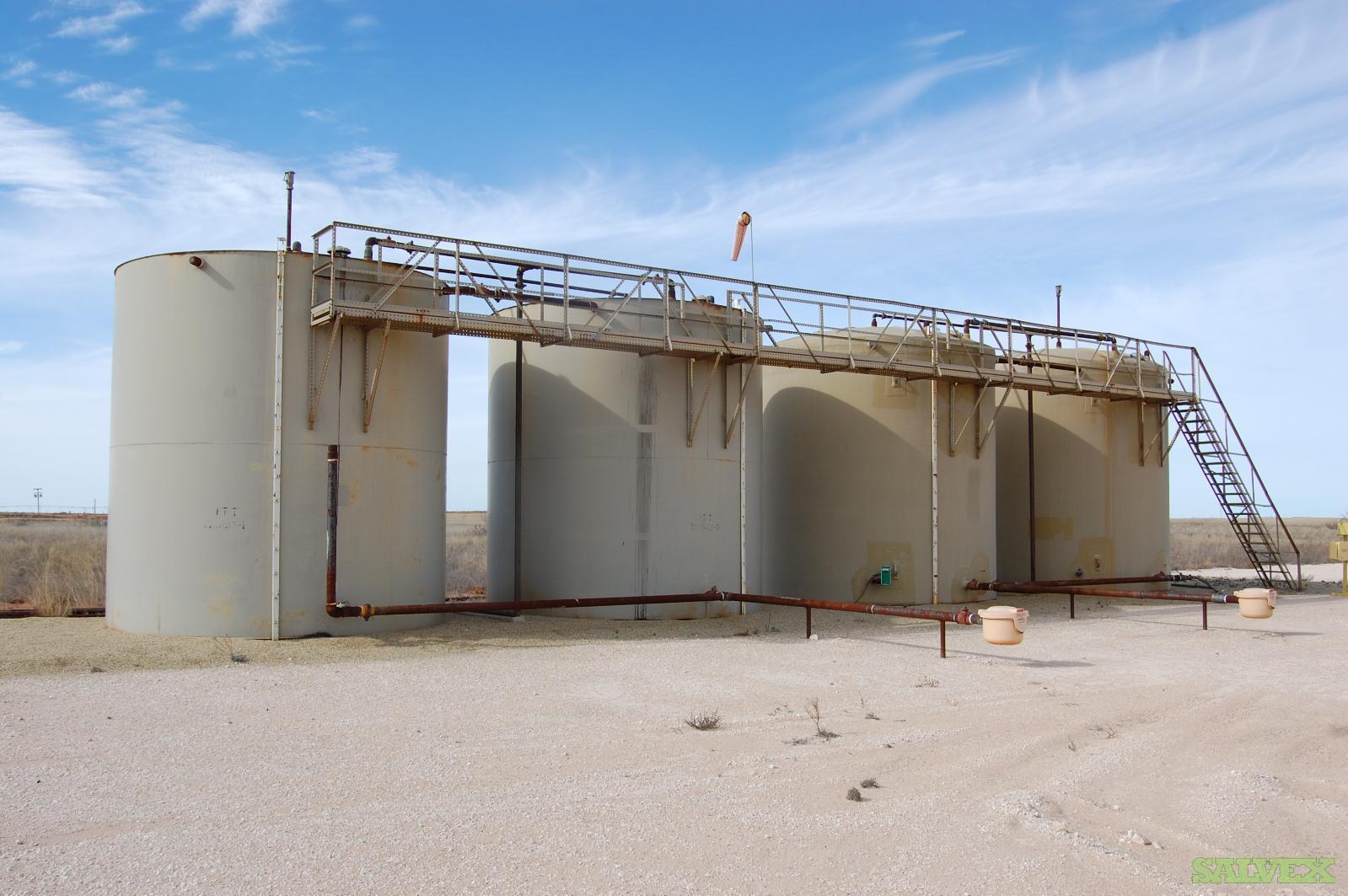 Steel & Fiberglass 500 bbl Tanks, Separator, Heater, Meter Run, Flare and H2S S Station