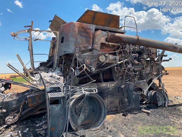 Damaged Tractor: 2008 Case- International 8010