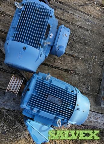 30 HP & 50 HP Electric Motors (3 Units)