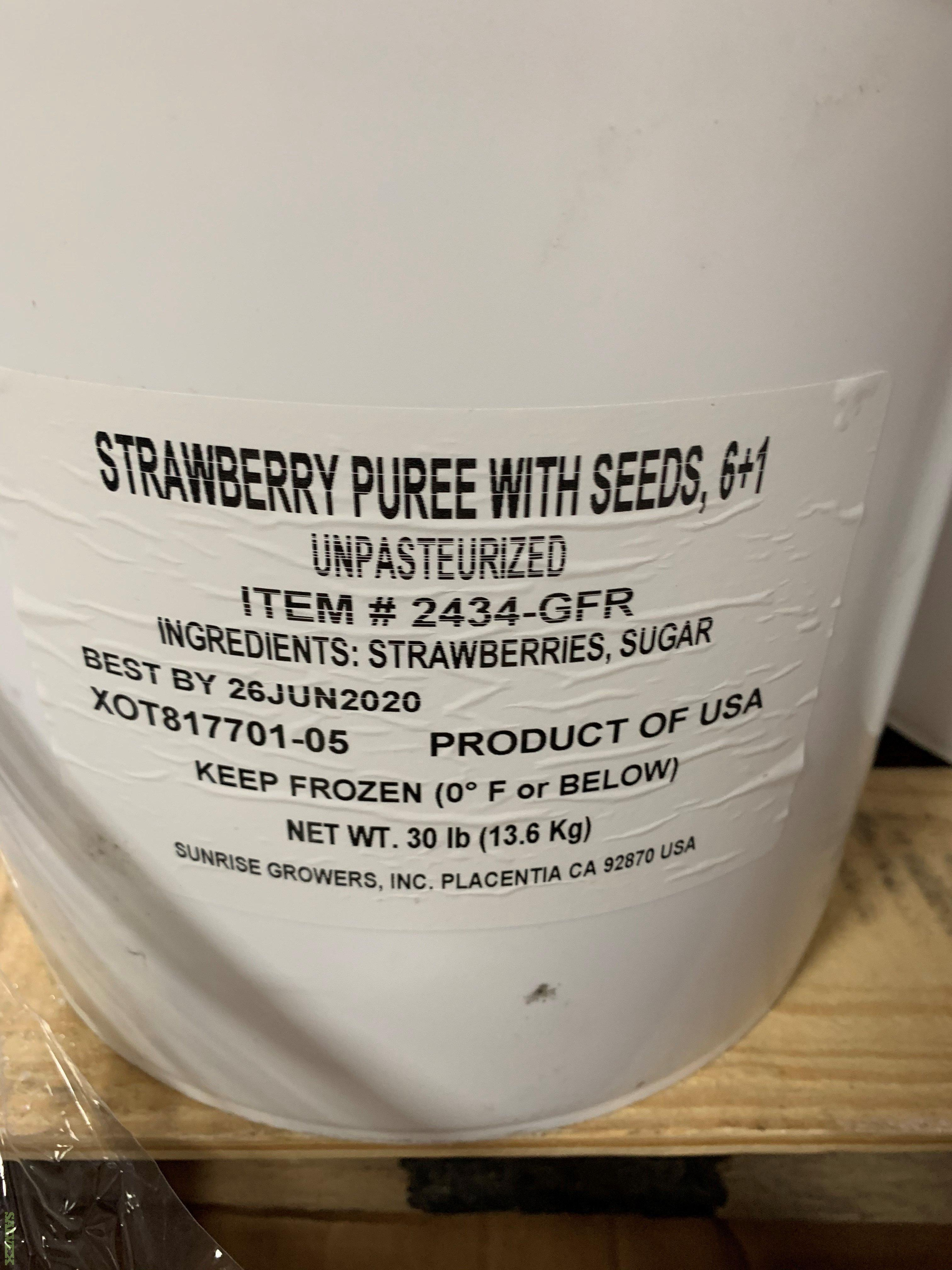 Strawberry Puree w/Seeds 6 1 (1,250 Buckets - 37,500)