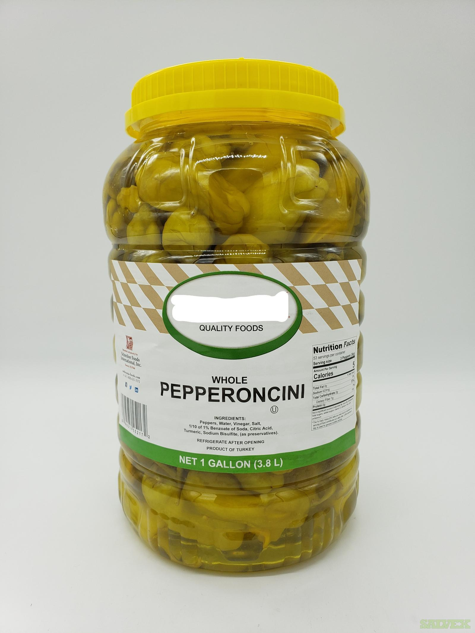 4/1 gal. Pepperoncini, 3-6 cm (239 Cases)