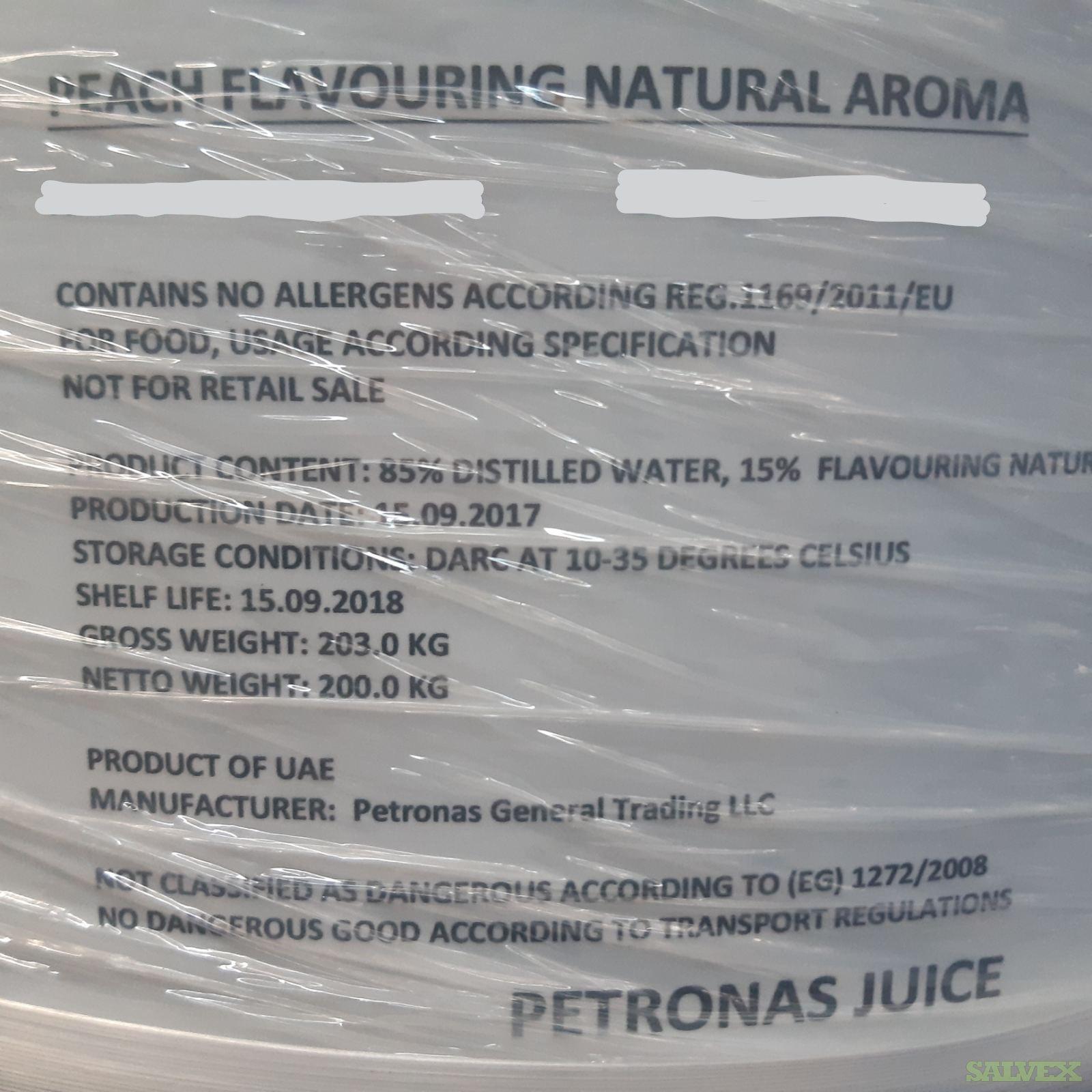 Natural Peach Flavor Aroma (16,000 Liters)