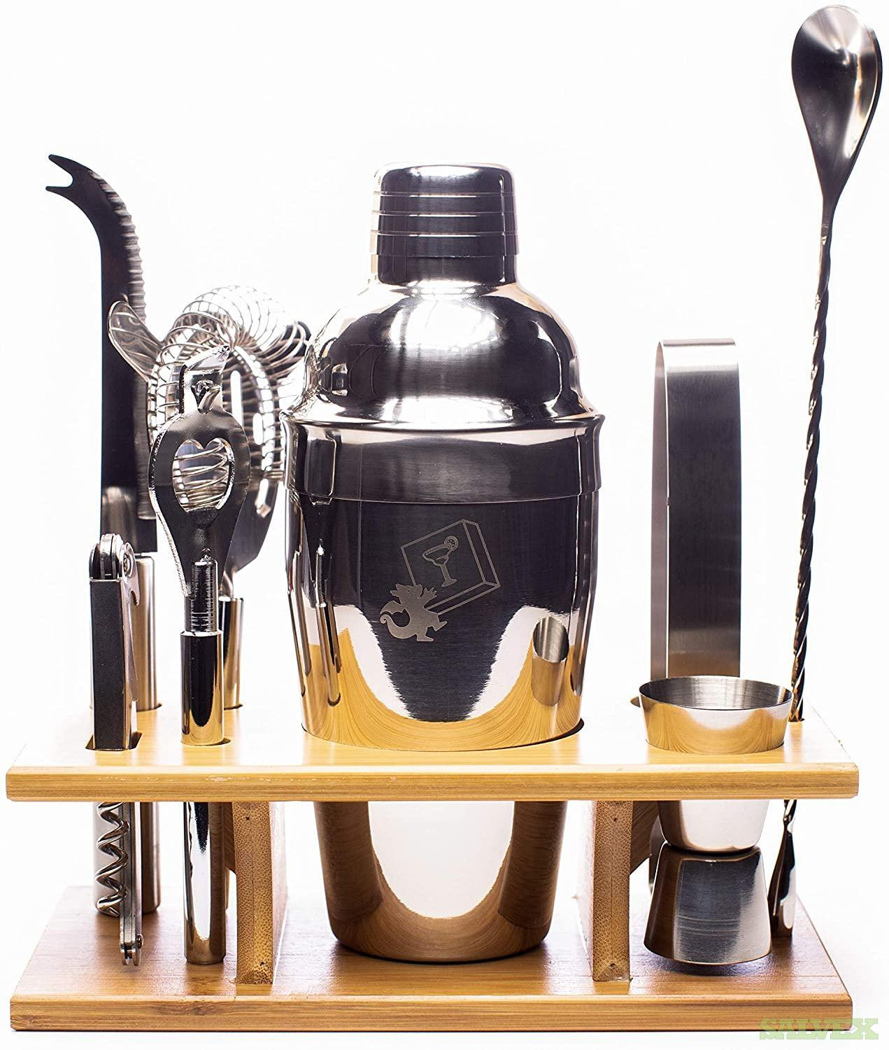 Eight Piece Stainless Steel Cocktail Shaker Set by DragonEra (1,993 sets)