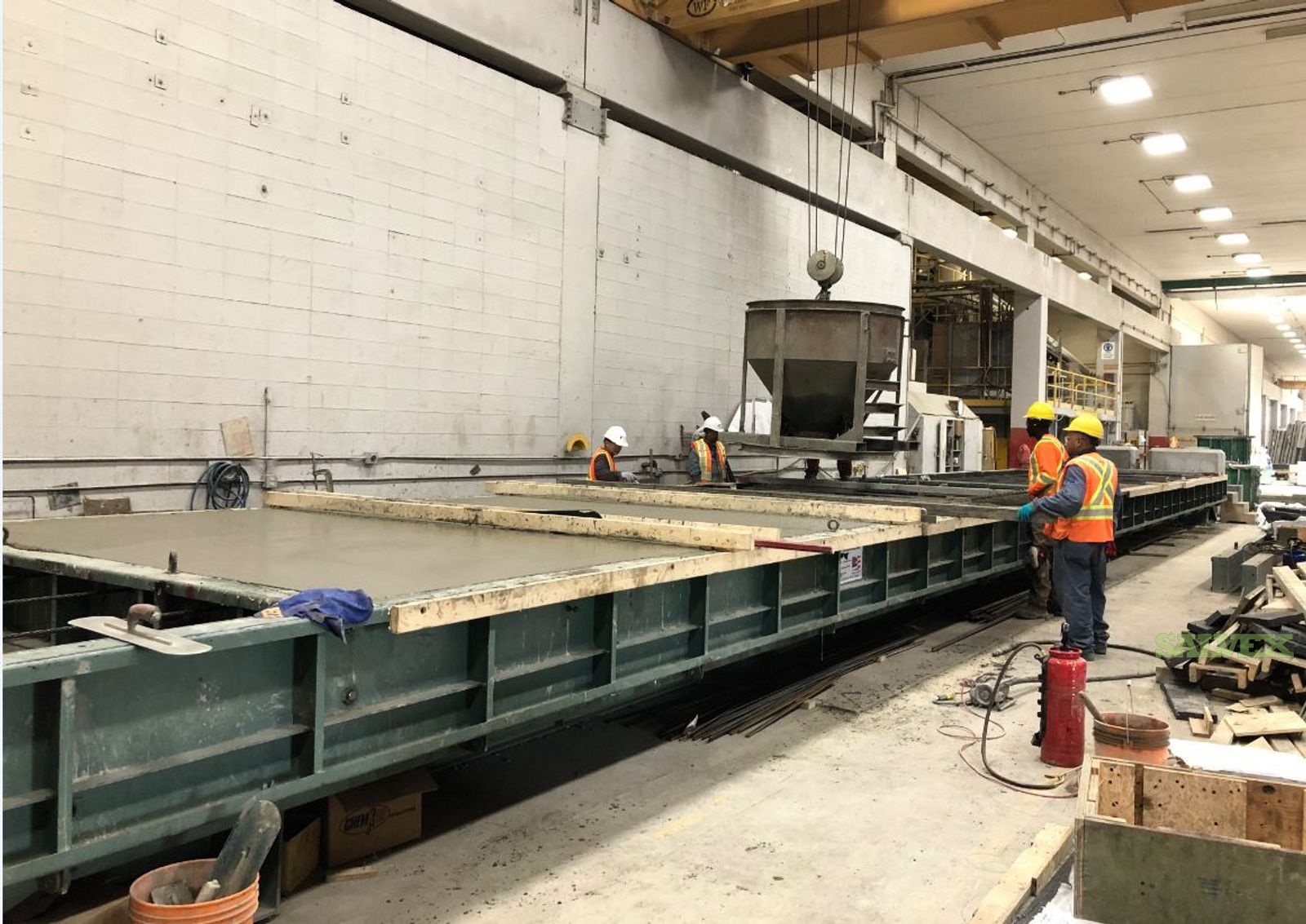 11' X 80' Self Stressing Architectural Casting Table Made by Helser