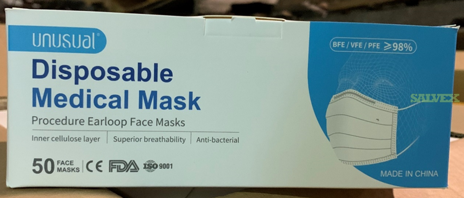 PPE: 3ply / 2ply Disposable Masks And Face Shields (1 Lot) in Wisconsin