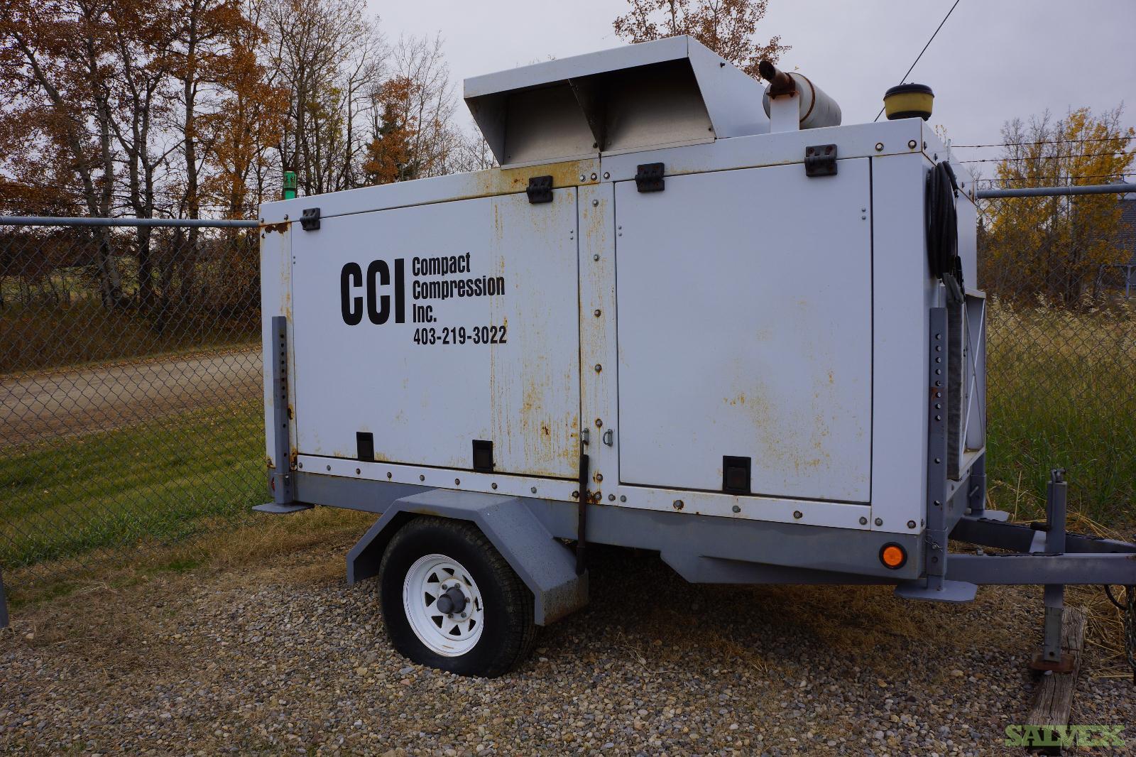 40 hp GMC 3.0 LITER GARDNER DENVER E12 Rotary Vane Compressor