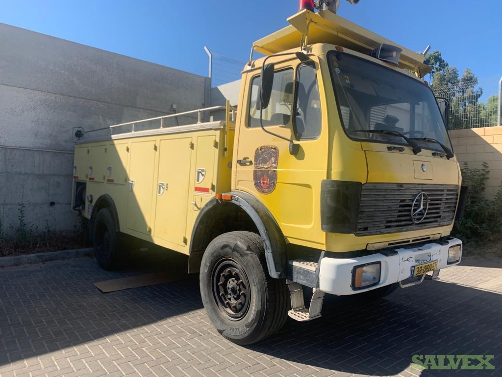 Mercedes 12-22 Fire Truck 4x4 Rescue Vehicle 1987