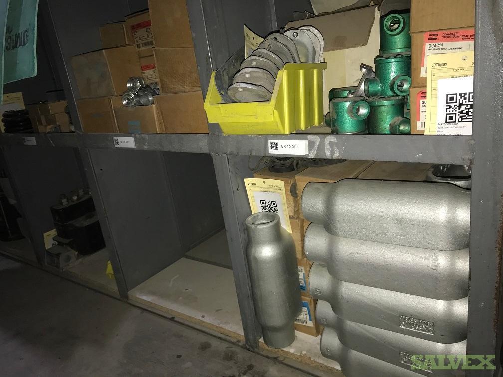 Electrical Parts Motors, Transformers, Gaskets, Hoses, Junctions Etc (5565 Pieces)