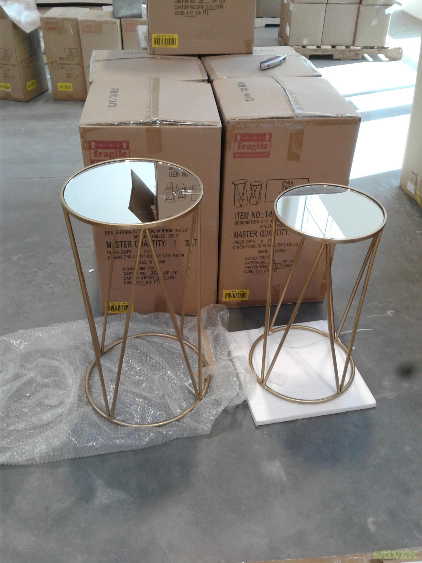 Glass Tables, Sculptures, Vases and Other Decoration Items (61 Cartons)
