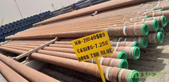 7 2/8 41.80# TN110SS TSH Blue Surplus Casing (3,027 Feet / 57 Metric Tons)