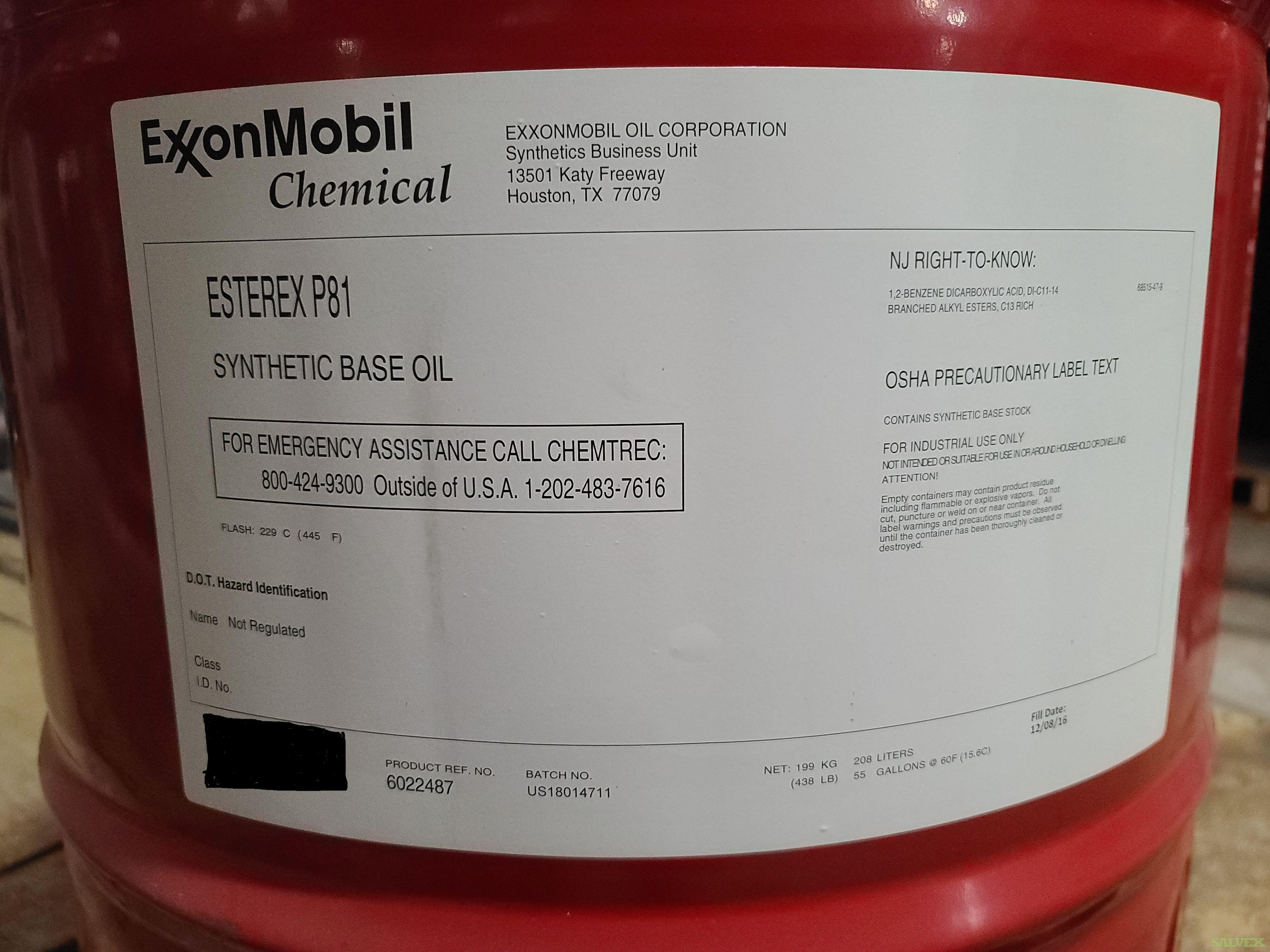 Exxon Esterex Base - Esterex P61 and P81 Synthetic Lubricants  (112 Drums)