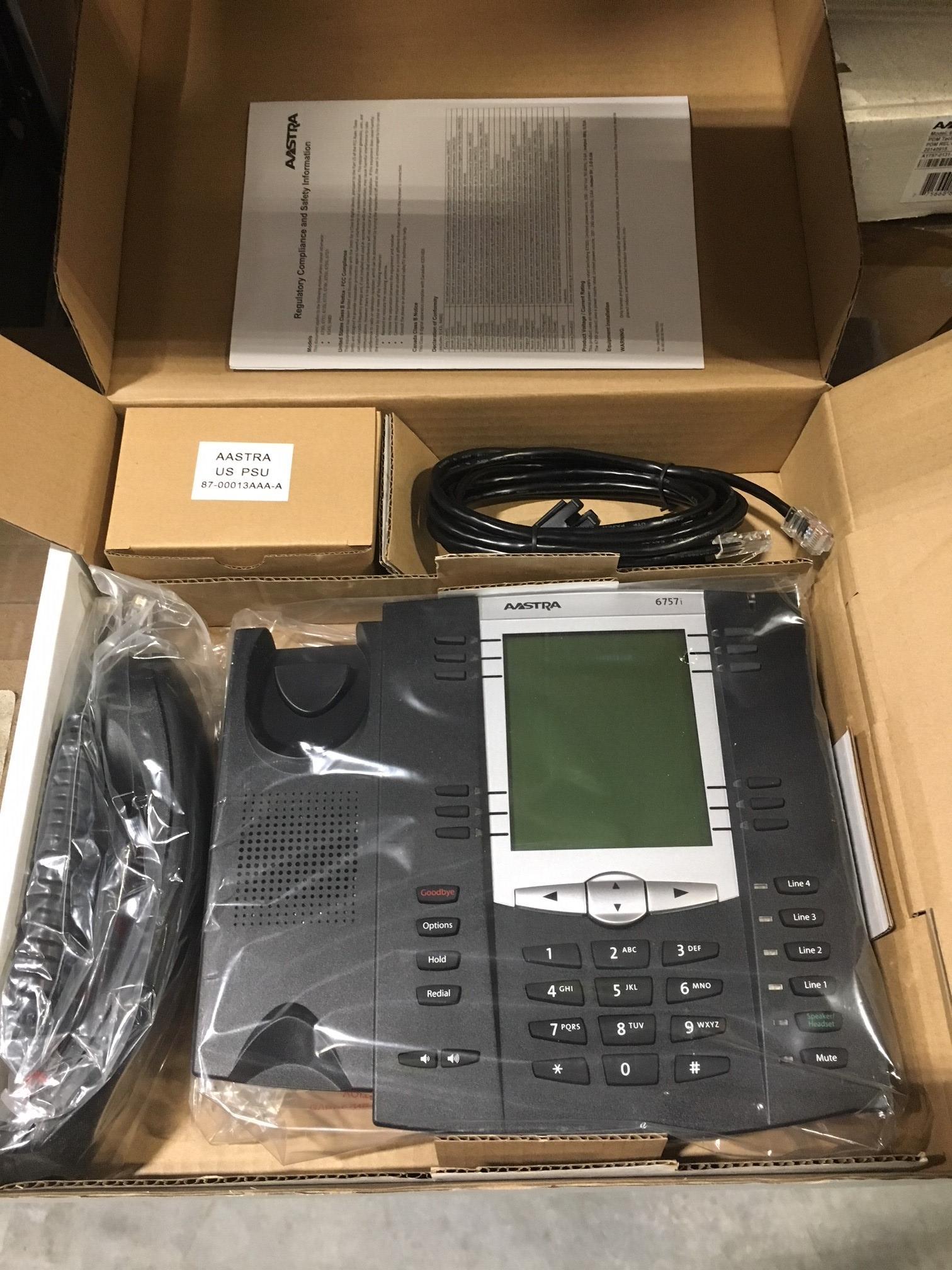 Phone VOIP Sip 6757i XML Browser Speakerphones (151 Units)